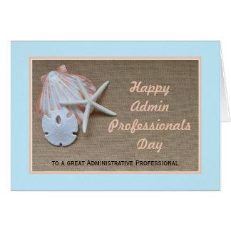 Tarjeta administrativa del día de los profesionale