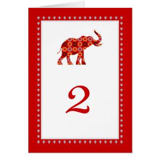 Tarjeta adornada de la tabla de los elefantes