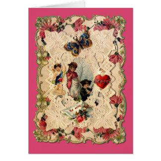 Tarjeta adornada de la tarjeta del día de San
