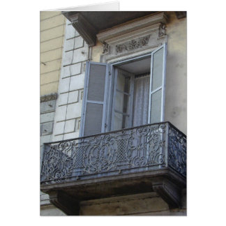 Tarjeta afiligranada del balcón