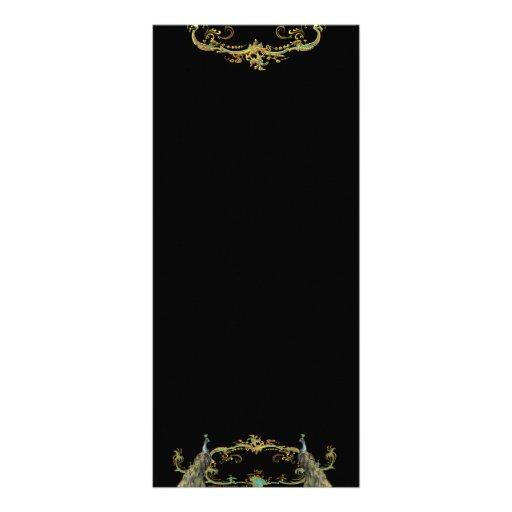 Tarjeta afiligranada del estante del oro del pavo  tarjetas publicitarias personalizadas