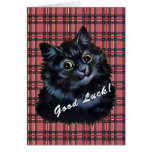 Tarjeta afortunada del gato negro de Louis Wain de