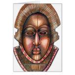 Tarjeta africana de la máscara
