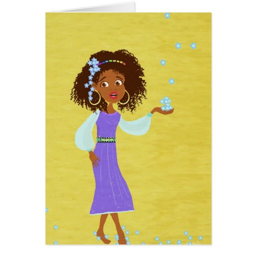 Tarjeta africana del chica