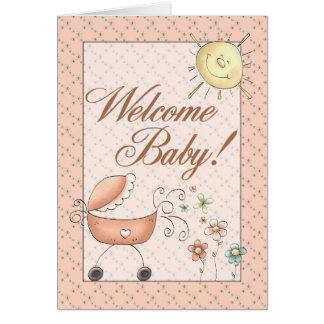 Tarjeta agradable del bebé