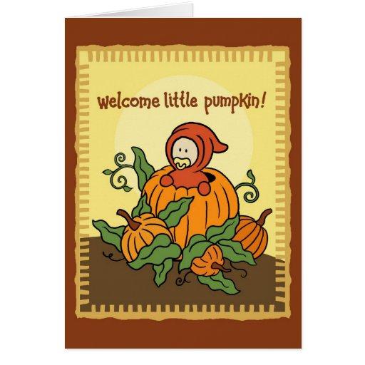 Tarjeta agradable del bebé del otoño nueva (para