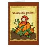 Tarjeta agradable del bebé del otoño nueva (para l