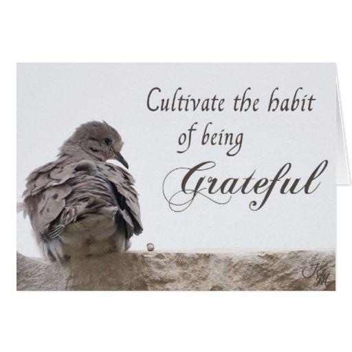 Tarjeta agradecida