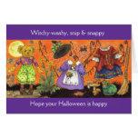 Tarjeta aguada de Witchy Halloween