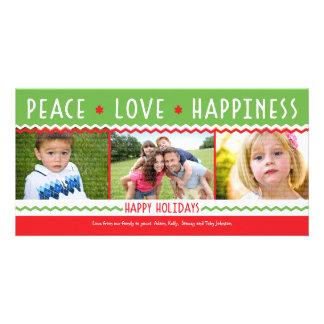 Tarjeta alegre de la foto del collage del día de f tarjeta fotografica personalizada