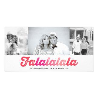 Tarjeta alegre de la foto del día de fiesta de la plantilla para tarjeta de foto