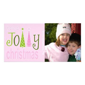 Tarjeta alegre de la foto del navidad tarjetas fotográficas