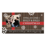 Tarjeta alegre de la foto del navidad tarjeta fotográfica personalizada
