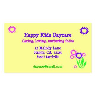 Tarjeta alegre de la guardería de las flores tarjetas de visita