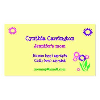 Tarjeta alegre de la mamá de las flores tarjeta de visita