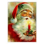 Tarjeta alegre de Santa del ~ del navidad del vint