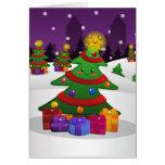 Tarjeta alegre del árbol de navidad