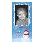 Tarjeta alegre del día de fiesta del muñeco de nie tarjetas personales