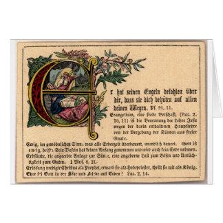 Tarjeta alemana de la escuela dominical