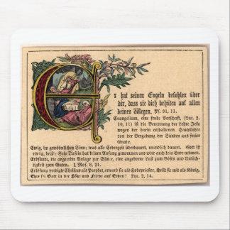 Tarjeta alemana de la escuela dominical tapetes de ratones