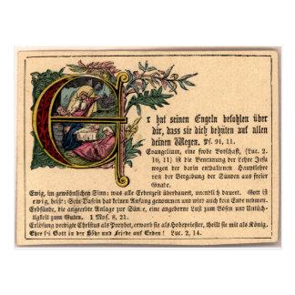 Tarjeta alemana de la escuela dominical postales