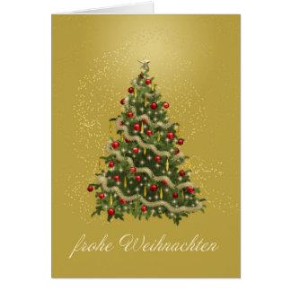 Tarjeta alemana del árbol de navidad