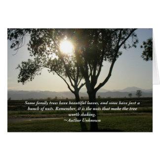 Tarjeta - algunos árboles de familia tienen hermos