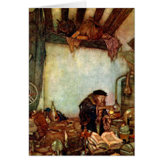 Tarjeta Alquimista y su oro de Edmund Dulac