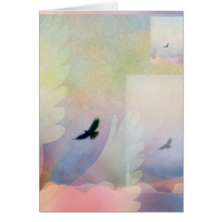Tarjeta altísima abstracta del halcón