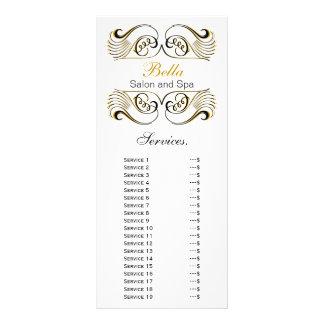 tarjeta amarilla, blanco y negro elegante del diseño de tarjeta publicitaria