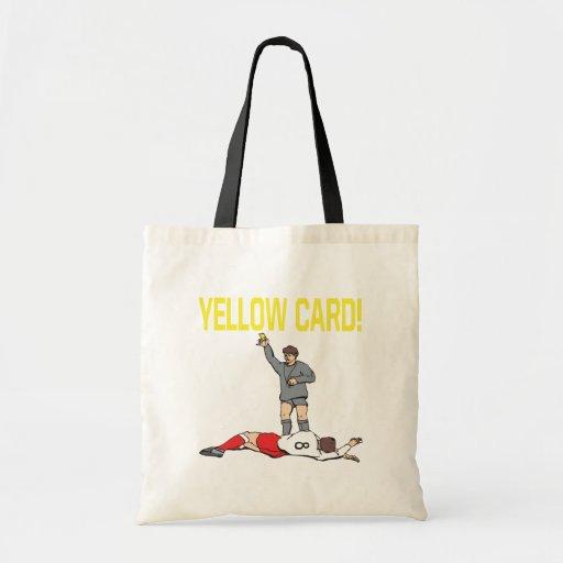 Tarjeta amarilla bolsa tela barata