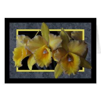 Tarjeta amarilla de la orquídea