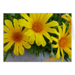 Tarjeta amarilla de las flores