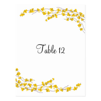 Tarjeta amarilla de oro del asiento de la tabla de