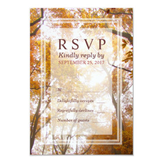 """Tarjeta amarilla de RSVP de la respuesta de los Invitación 3.5"""" X 5"""""""