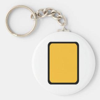 Tarjeta amarilla del árbitro llavero redondo tipo pin