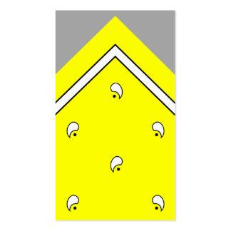 Tarjeta amarilla del truco del pañuelo/tarjeta de  tarjetas de visita