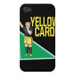 Tarjeta amarilla iPhone 4/4S carcasa