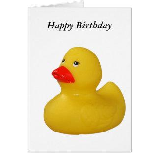 Tarjeta amarilla linda del feliz cumpleaños de la