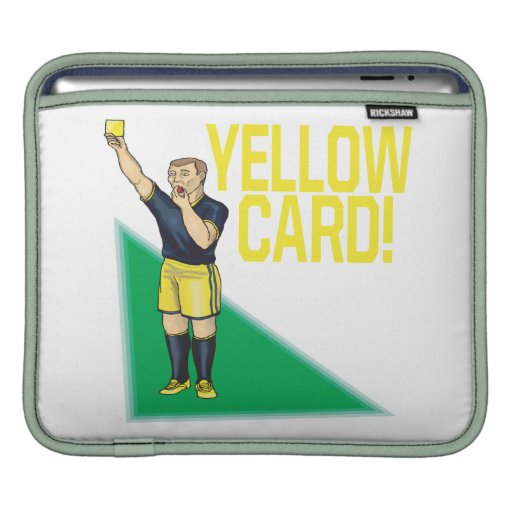 Tarjeta amarilla mangas de iPad