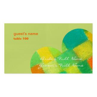 Tarjeta amarilla oscura del lugar de la primavera tarjetas de visita