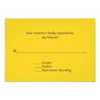 Tarjeta amarilla soleada brillante de RSVP que se Invitaciones Personales
