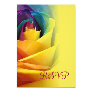 Tarjeta amarilla subió arco iris de RSVP Invitación 8,9 X 12,7 Cm