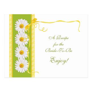 Tarjeta amarilla verde de la receta de la tarjetas postales