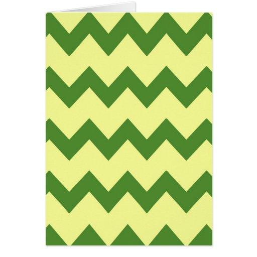 Tarjeta amarilla verde de los galones