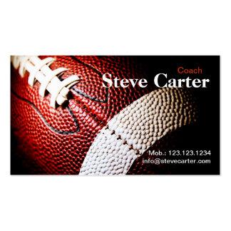 Tarjeta americana del entrenador de fútbol o del j plantilla de tarjeta personal