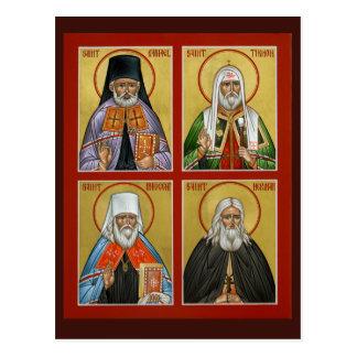 Tarjeta americana del rezo de los santos postal