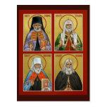 Tarjeta americana del rezo de los santos postales