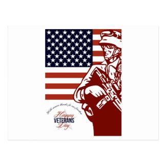 Tarjeta americana moderna del soldado del día de v postales