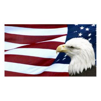 Tarjeta americana patriótica del negocio o del tarjetas de visita